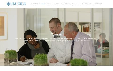 Screenshot of Team Page jmzell.com - Team — JM Zell Partners, Ltd. - captured Oct. 4, 2017
