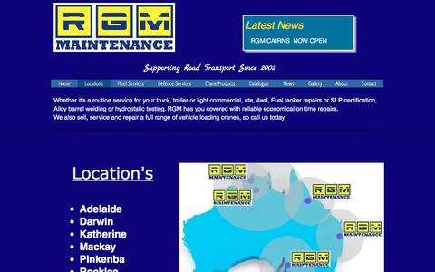 Screenshot of Locations Page rgmmaintenance.com.au - RGM Maintenance - Heavy Vehicle Maintenance & Repair Specialists | Locations - captured Oct. 22, 2017