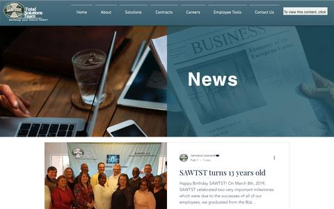 Screenshot of Blog sawtst.com - News | SAWTST, LLC - captured March 21, 2019