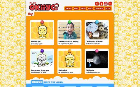 Screenshot of Blog okiiyo.com - Blog • OKiiYO - captured Oct. 2, 2014