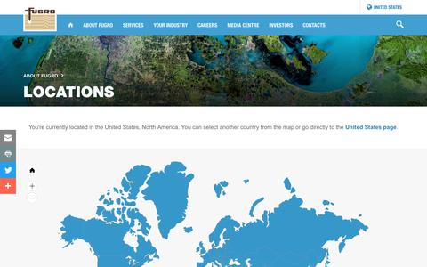 Screenshot of Locations Page fugro.com - Locations - captured March 14, 2017