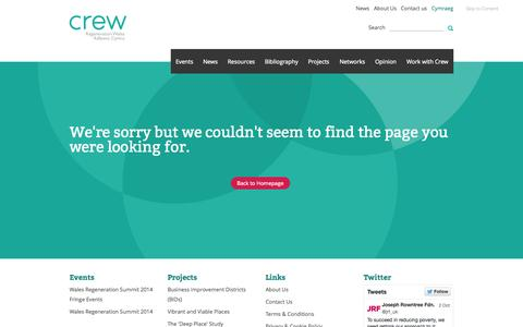 Screenshot of Terms Page regenwales.org - Crew — 404 - captured Oct. 5, 2014