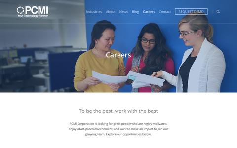 Screenshot of Jobs Page pcmicorp.com - Careers - PCMI Corporation - captured Dec. 13, 2018