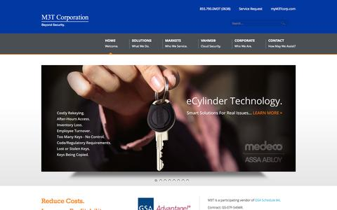 Screenshot of Home Page m3tcorporation.com - Premier provider of physical & cyber security, video surveillance, access control, vehicle gates, automatic dooors, networking solutions and more... | M3T Corporation - captured Sept. 29, 2014
