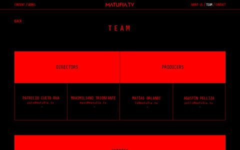 Screenshot of Team Page matufia.tv - Matufia TV | Content Creators looking for trouble - captured July 27, 2018