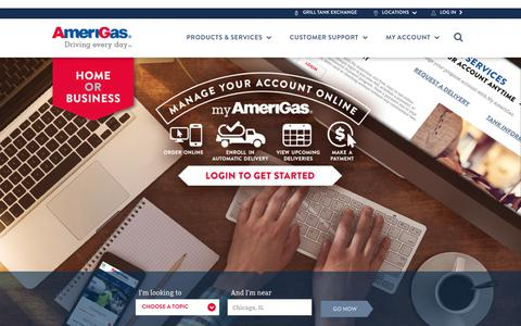 Screenshot of Home Page amerigas.com - Call your Local AmeriGas Store for a Propane Quote - captured July 2, 2017