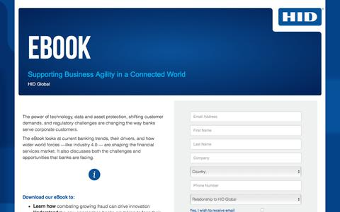 Screenshot of Landing Page hidglobal.com - Supporting Business Agility in a Connected World - captured June 6, 2018