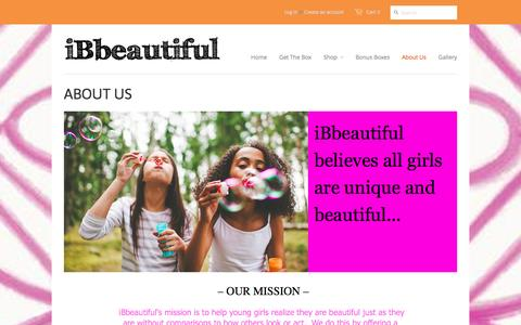 Screenshot of About Page ibbeautiful.com - About ibbeautiful and monthly subscription gift boxes - iBbeautiful - captured Jan. 9, 2016