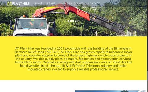 Screenshot of About Page atplant.com - ABOUT | AT Plant Hire - captured Oct. 7, 2017