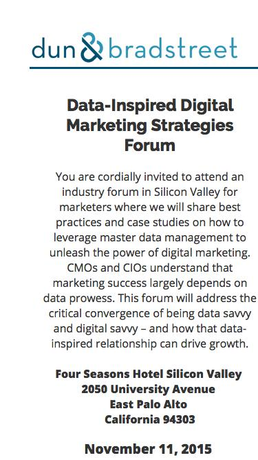 Data-Inspired Digital Marketing Strategies Forum