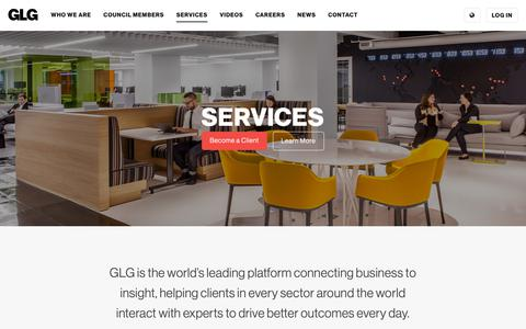 Screenshot of Services Page glg.it - GLG » Services - captured March 16, 2019