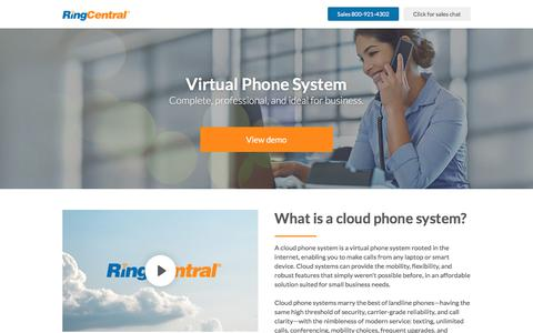 Screenshot of ringcentral.com - Virtual Phone System for Complete Call Control | RingCentral - captured Sept. 25, 2017