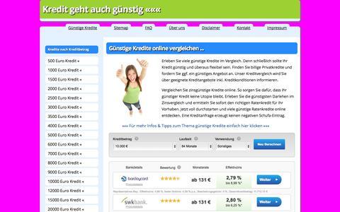 Screenshot of Home Page guenstige-kredite-im-vergleich.com - Günstige Kredite im Vergleich » Günstiger zum Online-Kredit - captured Sept. 19, 2014