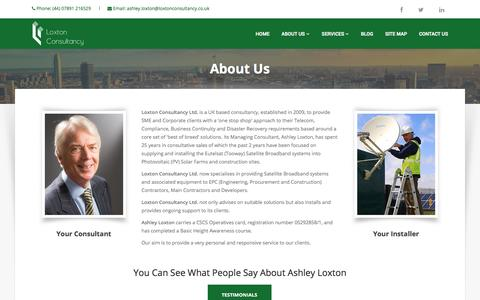 Screenshot of About Page loxtonconsultancy.co.uk - About Us - captured May 23, 2017
