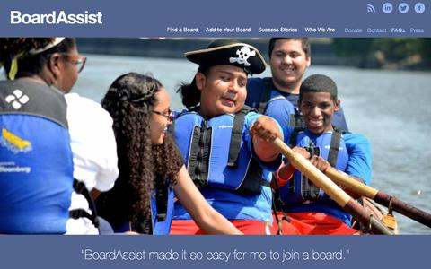 Screenshot of FAQ Page boardassist.org - Giving Back » BoardAssist: Identifying and recruiting high impact New Yorkers for board service. - captured Aug. 3, 2018