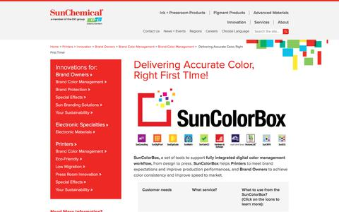 Ink Color Management | Sun Chemical