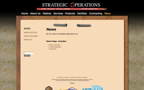 Screenshot of Press Page strategic-operations.com - News | Strategic Operations - captured Oct. 7, 2014