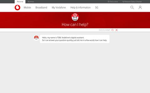 Screenshot of Contact Page vodafone.co.uk - How to get in touch with Vodafone - captured Sept. 25, 2019