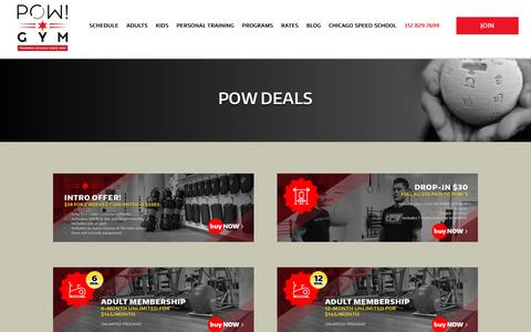 Screenshot of Signup Page powkickboxing.com - Chicago Gym - POW - captured Oct. 9, 2016