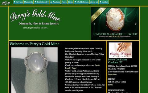 Screenshot of Login Page perrysgoldmine.com - Perry's Gold Mine, Charlotte, North Carolina - captured Nov. 4, 2018