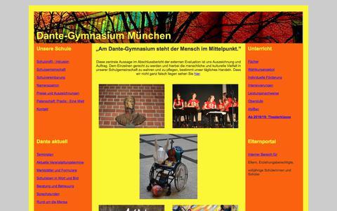 Screenshot of Home Page dante-gymnasium.de - start - captured June 10, 2018
