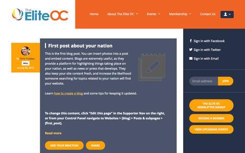 Screenshot of Blog theeliteoc.com - Blog - The Elite OC - captured Oct. 26, 2014