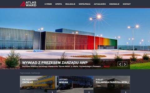 Screenshot of Home Page atlasward.pl - Atlas Ward | Hale Stalowe - captured Feb. 6, 2016