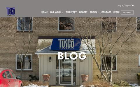Screenshot of Blog tuscodisplay.com - Blog - Tusco Display - captured Aug. 12, 2015