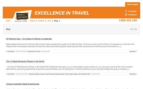 Screenshot of Blog travelpartners.com.au - Blog - Travel Partners - captured Oct. 20, 2018