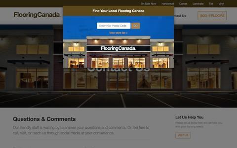Screenshot of Contact Page flooringcanada.ca - Flooring Canada - Hardwood, Carpet & Laminate at a Reasonable Price - captured Jan. 8, 2016