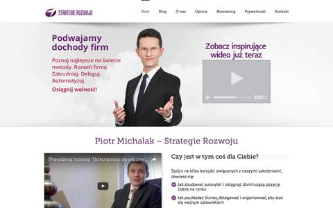 Screenshot of Home Page strategie-rozwoju.pl - Piotr Michalak & Strategie Rozwoju - captured Aug. 17, 2016