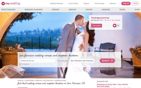 San Francisco Wedding Venues & Wedding Reception Locations - mywedding.com
