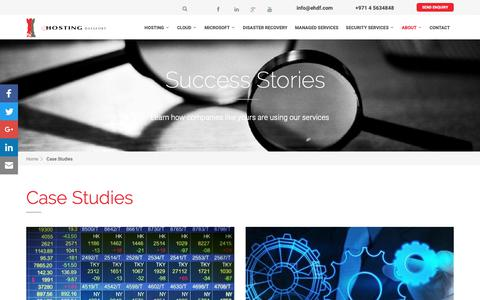 Screenshot of Case Studies Page ehdf.com - Case Studies | eHDF - captured Sept. 30, 2018