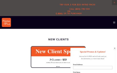 Screenshot of Pricing Page pilatespluswv.com - Pricing — Pilates Plus WV - captured July 18, 2018