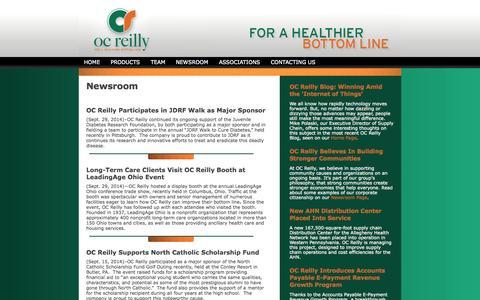 Screenshot of Press Page ocreilly.com - Healthcare Consulting | OC Reilly » NEWSROOM - captured Oct. 7, 2014