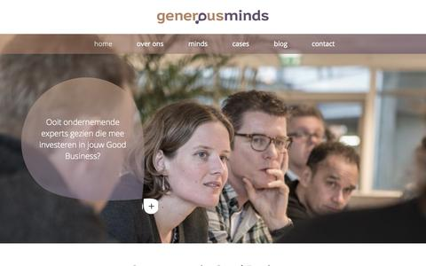 Screenshot of Home Page generous-minds.com - Generous Minds - captured Jan. 20, 2015