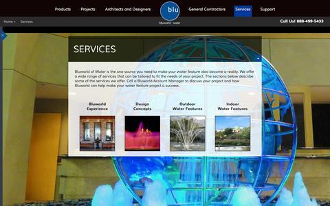 Screenshot of Services Page bluworldusa.com - Bluworld of Water Services | Bluworld - captured Oct. 5, 2014