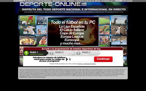 Screenshot of Home Page deporte-online.com - Deporte Online - captured Sept. 23, 2014
