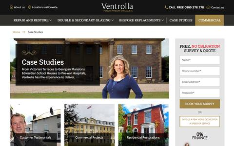 Screenshot of Case Studies Page ventrolla.co.uk - Case Studies | Ventrolla - captured Feb. 17, 2016