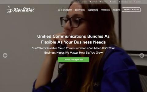 Screenshot of Home Page star2star.com - Star2Star: World's Most Scalable Cloud Communications Solution - captured Feb. 12, 2016