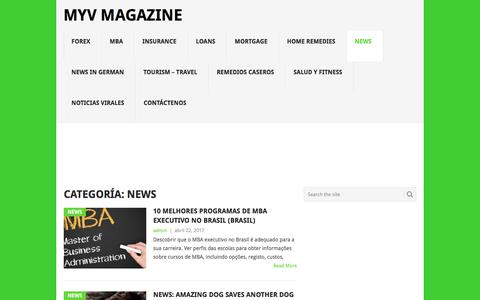 Screenshot of Press Page myvmagazine.com - News archivos - Myv Magazine - captured July 5, 2017