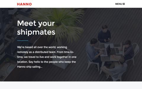 Screenshot of Team Page hanno.co - Meet your team - captured Sept. 19, 2014