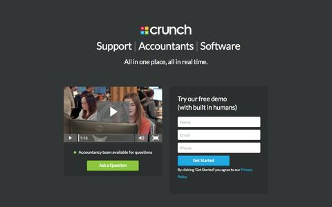 Screenshot of Signup Page crunch.co.uk - Take a free demo | Crunch - captured Jan. 18, 2016