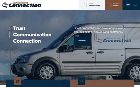 Screenshot of Home Page communicationconnection.ca - Communication Connection - captured July 5, 2017