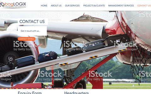 Screenshot of Contact Page baglogix.com - bagLOGIX | Baggage Consultant Contact Us - captured Aug. 5, 2018