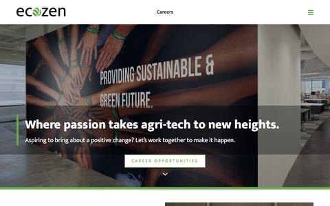 Screenshot of Jobs Page ecozensolutions.com - Careers - Jobs at Ecozen Solutions  | Ecozensolutions - captured Nov. 14, 2019