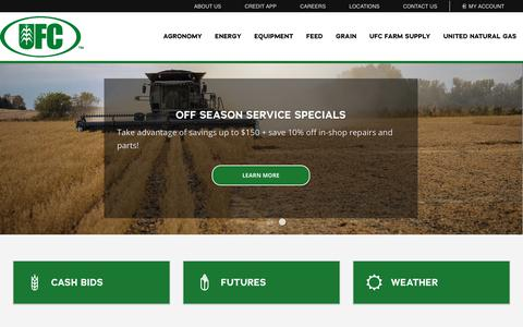 Screenshot of Home Page ufcmn.com - Home - United Farmers Cooperative - captured Nov. 18, 2018