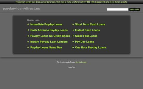 Screenshot of Home Page payday-loan-direct.us - Payday-Loan-Direct.us - captured March 17, 2016