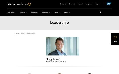 SuccessFactors Leadership Team             | SuccessFactors