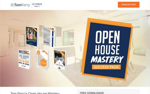 Screenshot of Landing Page tomferry.com - Real Estate Open House Mastery | Tom Ferry - captured Sept. 19, 2018